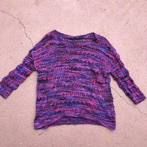 [Kensie] Multicolor Crochet Sweater